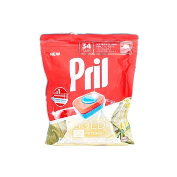 Pril Gold 12 Action Tabs - 34 Tabs