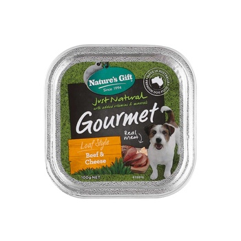 Natures Gift Beef & Cheese Dog Food 100g