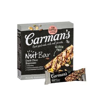 Carmans Dark Choc Espresso Nut Bar160g
