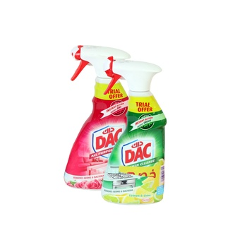 Dac All Purpose Cleaner Rose + Kitchen Cleaner Lime 500ml Pack Of 2
