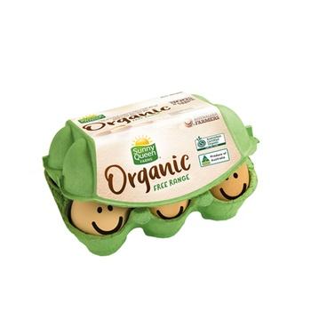 Sunny Queen Free Range Organic Eggs 6 Eggs(300g)