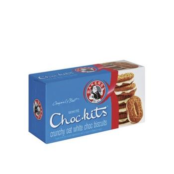 Bakers Choc-Kits White Chocolate Biscuits 200g