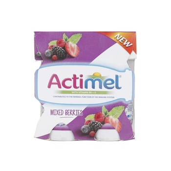 Actimel Mixed Berries Skimmed Dairy Drink 4x93ml