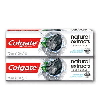 Colgate Natural Extract Charcoal Pure Cleansing Toothpaste 2 x 75ml