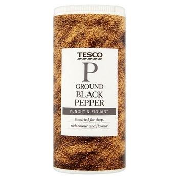 Tesco Ground Black Pepper 100g