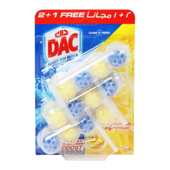 Dac Blue Active Eucalyptus Toilet Rim Block 50g Pack Of 3