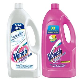Vanish Multi Use Liquid Stain Remover Pink 900 ml + White 900ml