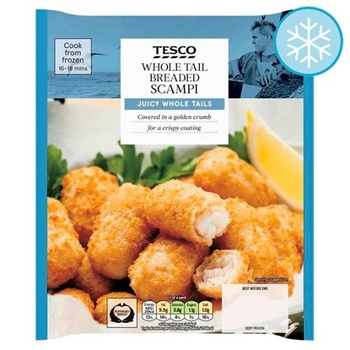 Tesco Whole Tail Breaded Scampi 280g