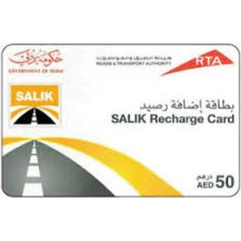 Rta Salik Recharge Card 50 Dhs