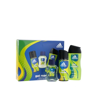 Adidas Get Ready Edt 50ml + Shower Gel 250ml + Body Spray 150ml