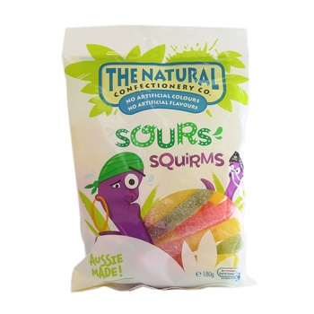 The Natural Jelly Sours Squirms 180g