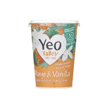 Yeo Valley Organic Yoghurt Mango and Vanilla 450g
