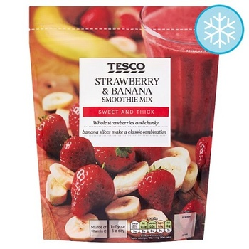 Tesco Strawberry & Banana Smoothie Mix 500g