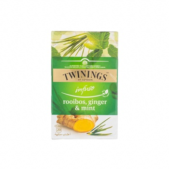 Twinings Infusion Rooibos, Ginger & Mint 20's