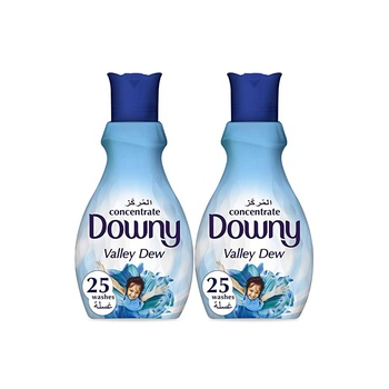Downy Valley Dew Concentrate Fabric Softener 1 ltr Pack Of 2