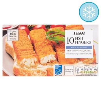 Tesco 10 Omega 3 Fish Fingers 300g