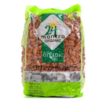 24 Mantra Organic Chitkabra Rajma 500g