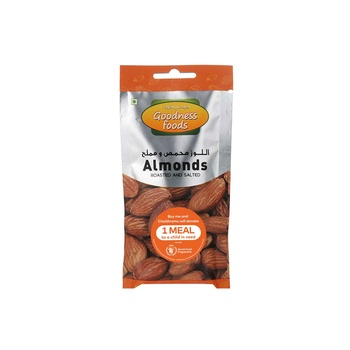 Goodness Foods Almonds Roasted & Salted Packet 40g