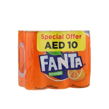 Fanta Orange 6 x 245ml Can @ 10 aed