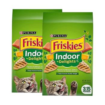 Purina Friskies Dry Indoor Delights Cat Food 3.15 lbs Pack of 2