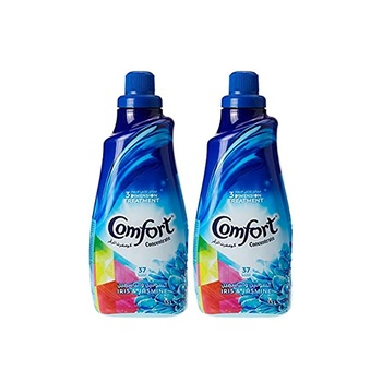 Comfort concentrated fabric softener iris & jasmine 1.5 liters pack of 2