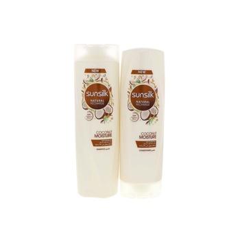 Sunsilk Coconut Moisture Shampoo 400ml + Conditioner 320ml