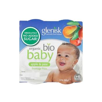 Glenisk Organic Baby Sugar Free Apple Pear 4X60g