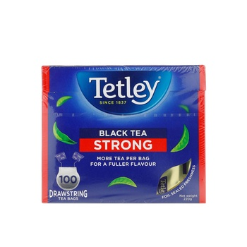 Tetley Drawstring Strong Black Tea Bags 100s