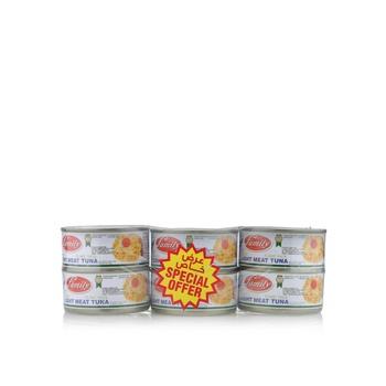 Family Light Meat Tuna Flake 6 x 185g