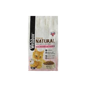 Webbox Natural Cat Food Chicken & Salmon Dry 2kg