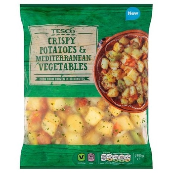 Tesco Crispy Potatoes & Mediterranean Vegetables 750g
