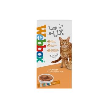 Webbox Cat Treat Lick E Lix Yoghurt Chicken 75g (5Pcs)