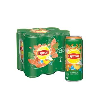Lipton Ice Tea Green Pear & Peach 6 x 320 ml