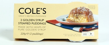 Coles Golden Syrup Steamed Pud 2 x 110 g