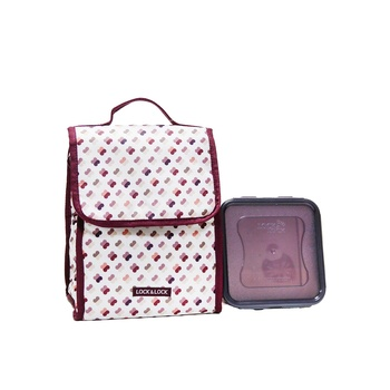 Lock & Lock Lunch Bag + Container assorted