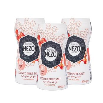 Nezo Iodized Salt Bottle Red 3x600g