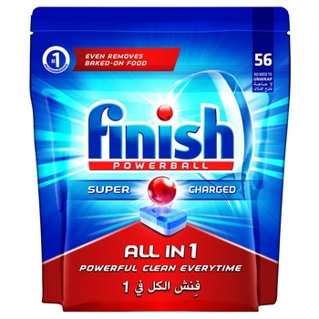 Finish Dishwasher Detergent All in One Tabs Regular 56s