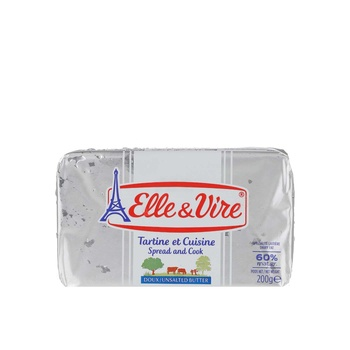 Elle & Vire Butter Unsalted 200g