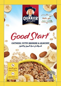 Quaker Good Start Oatmeal Banana and Almond 40g