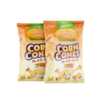 Goodness Foods Corn Cones Nacho Cheese 2X90Gms
