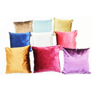 Microfiber Cushion With Zip Cover - Assorted