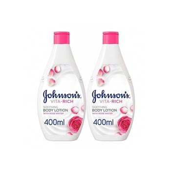 Johnson'S Body Lotion - Vita-Rich Soothing Rose Water 400Ml Pack Of 2