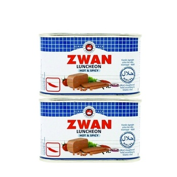 Zwan Luncheon Meat Beef Hot & Spicy 2 x 200gm @ Special Price