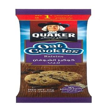 Quaker Oat Cookies Raisins 27g
