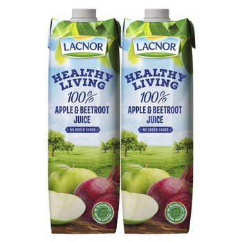 Lacnor Healthy Living Apple & Beetroot Juice 1 Liter Pack of 2