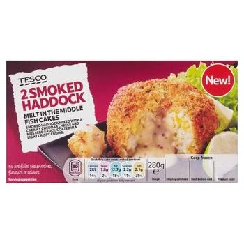Tesco 2 Smoked Haddock Fishcakes 280g