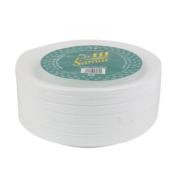 Samar Foam Plates 9 Inch White 25pcs