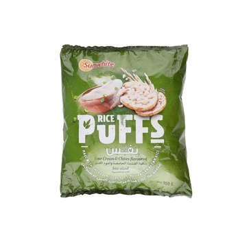 Sunwhite Rice Puffs Sour Cream & Chives 100g