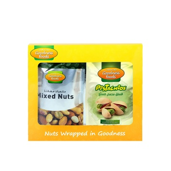 Goodness Foods Pista 175g + Mix Nut Roasted 200g
