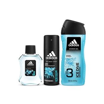 Adidas Ice Edt 100ml + Shower Gel 250ml + Body Spray 150ml